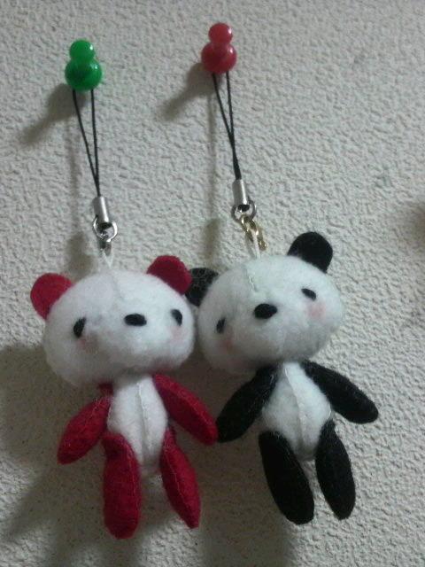 赤×黒パンダ☆