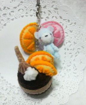 新作☆オレンジのチョコケーキ
